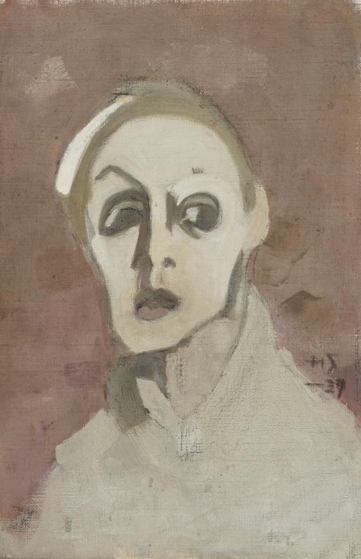 Helene Schjerfbeck  Selbstbildnis (Eine alte Malerin), 1945. Privatsammlung © VG Bild-Kunst, Bonn 2014
