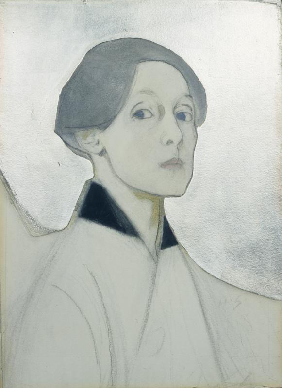 Helene Schjerfbeck  Selbstbildnis mit silbernem Hintergrund,1915. Ateneum Art Museum, Finnish National Gallery, Helsinki © VG Bild-Kunst, Bonn 2014