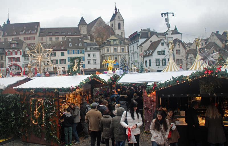 Weihnachtsmarkt in Basel. Foto: Tanja Neumann