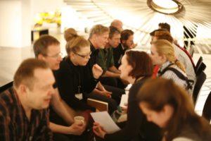 HMKV Workshop Twitterguide, Speeddating 1, Ausstellung _Das Mechanische Corps_, HMKV im Dortmunder U © Rebekka Zajonc