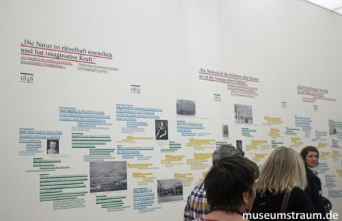 Blick auf die Wände des Vermittlungsraums