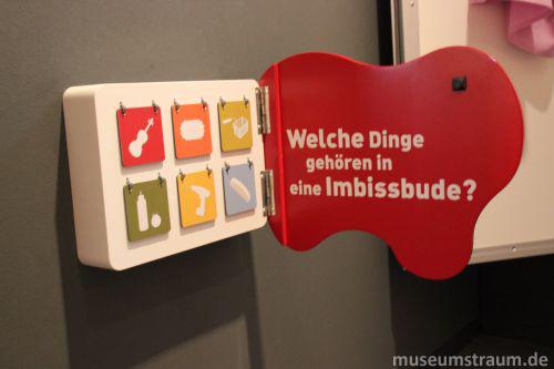 Beschriftung für Kinder im Currywurst Museum
